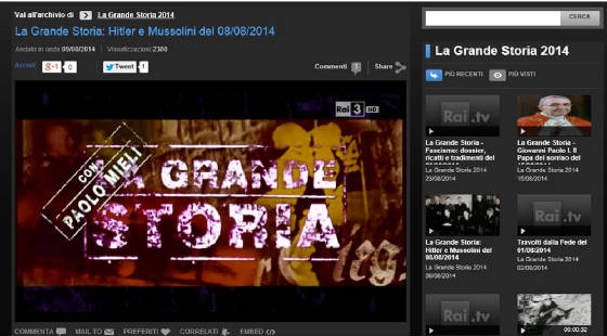 "Click for ""La Grande Storia"" by RAI - Italian TV"